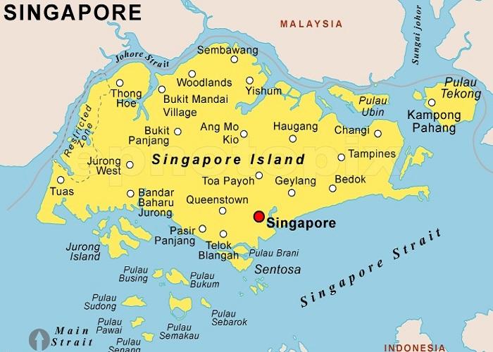 نقشه سنگاپور